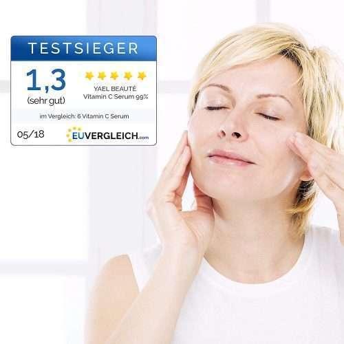 Yael Beauté Serum Facial con vitamina C para el rostro y el cuello. ganador del test 2018
