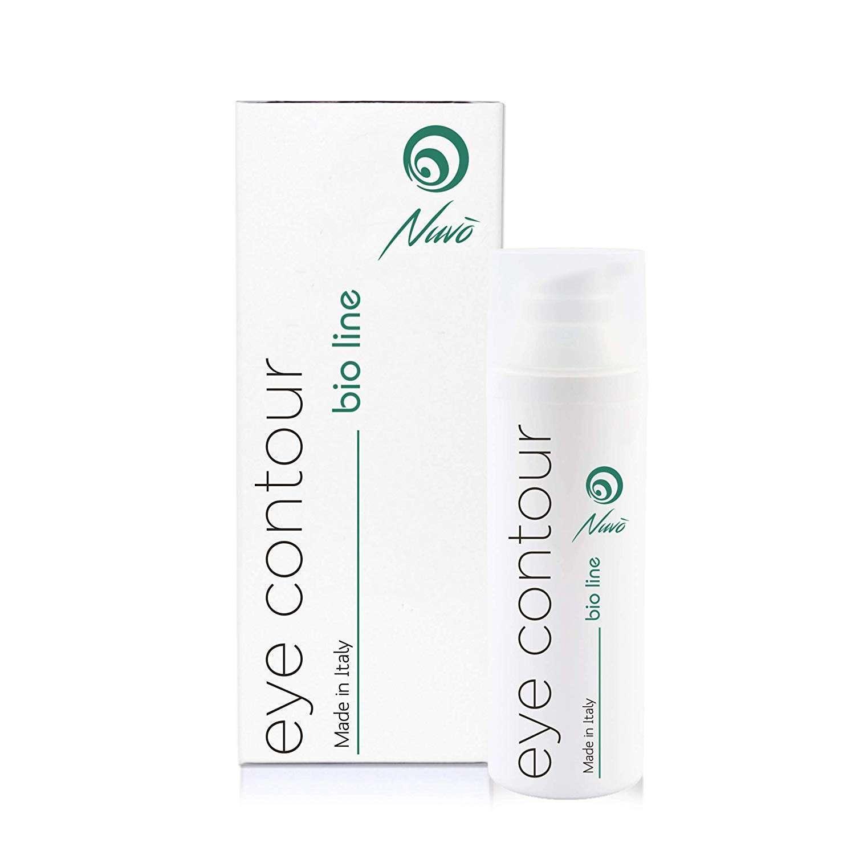 Crema con baba de caracol Nuvo' para ojeras y bolsas efecto anti-fatiga y contorno de ojos. presentacion