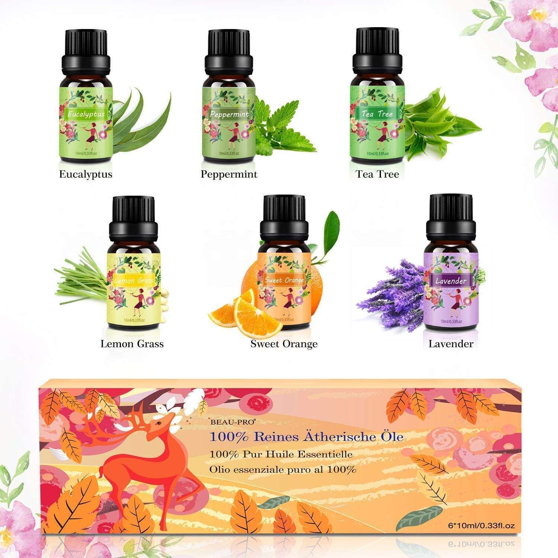 Aceites Esenciales En Set Aromaterapia Aceite Arom U00e1tico