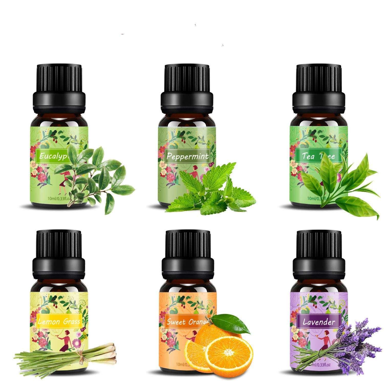 Aceites esenciales en Set- Aromaterapia, aceite aromático. presentación