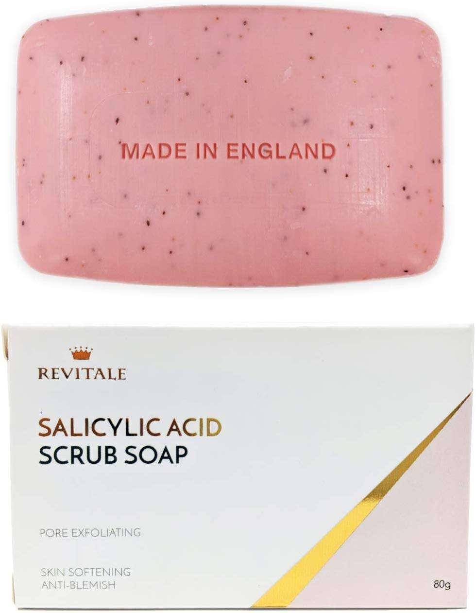 Revitale- Jabón exfoliante con ácido salicílico. jabon