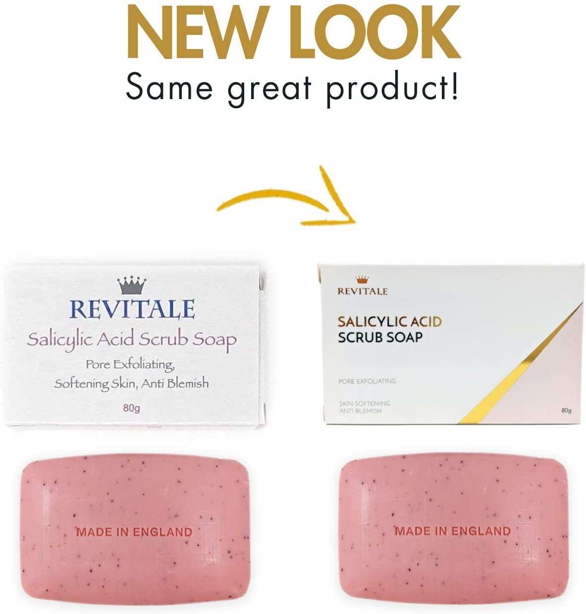 Revitale- Jabón exfoliante con ácido salicílico. presentación