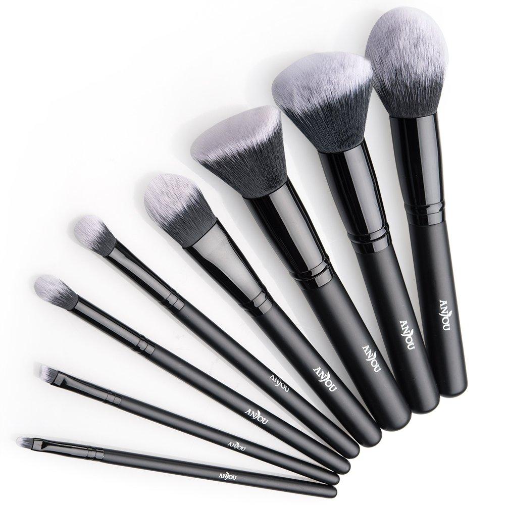Set de brochas maquillaje profesional presentación