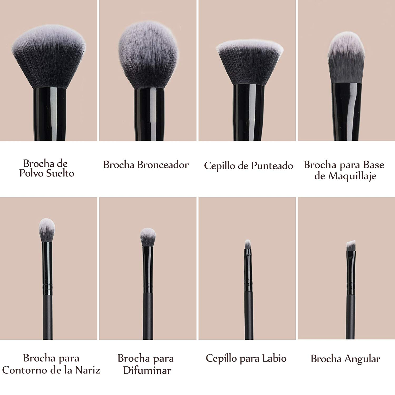 Set de brochas maquillaje profesional tipos de brochas