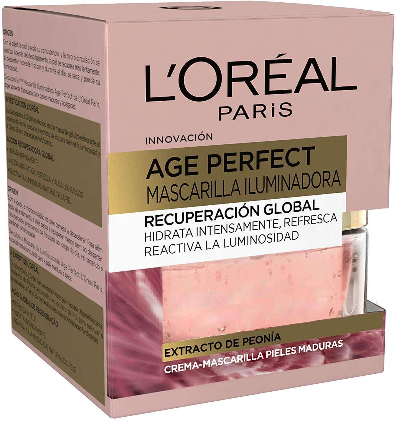 L'Oreal Paris - Age perfect, crema mascarilla iluminadora empaque