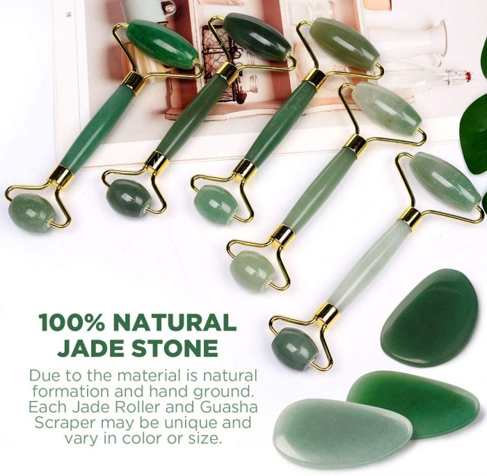 Rodillo de Jade, Piedra de masaje facial Turata Antienvejecedor. Descripcion