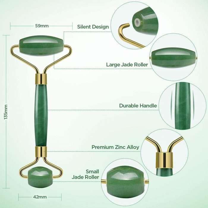 Rodillo de Jade, Piedra de masaje facial Turata Antienvejecedor. Tamaño