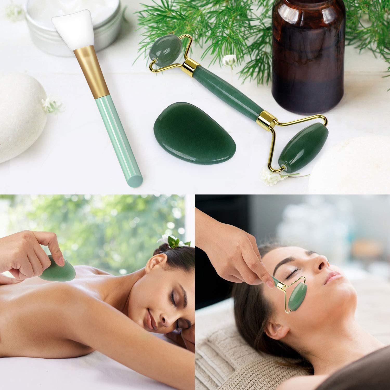 Rodillo de Jade, Piedra de masaje facial Turata Antienvejecedor. uso